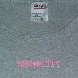 1998 Sex and the City Pink HBO Promo Shirt 90s